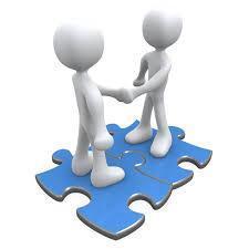 image of avatars shaking hands