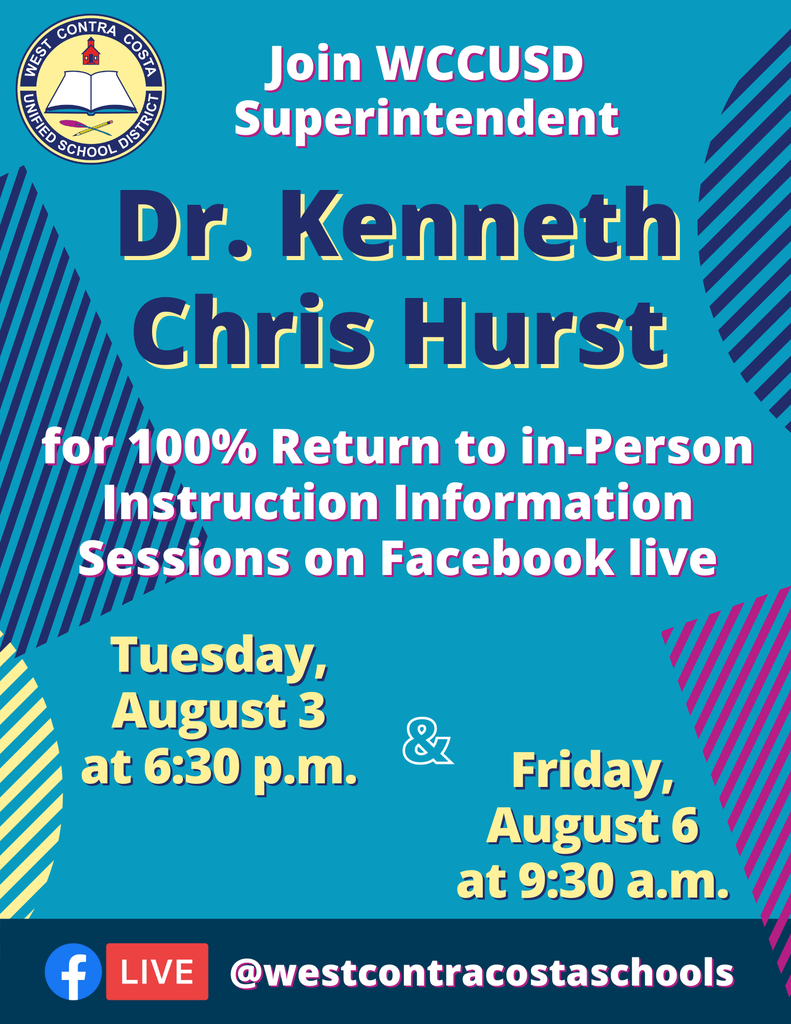 100% Return to in-Person Info Sessions Flyer