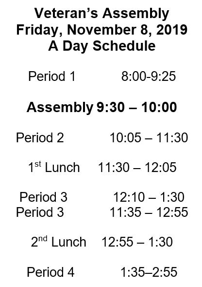 alt. schedule