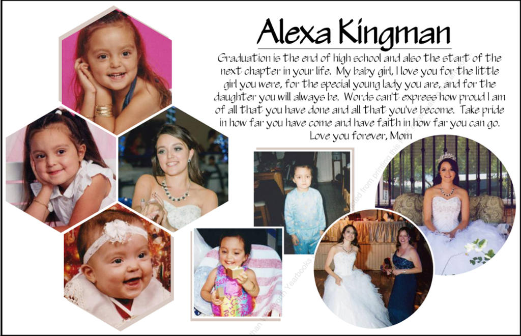 example of 1/2 page ad with student photos