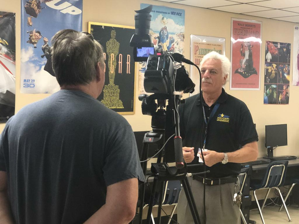 Mr. Hauptner being interviewed by Channel 25 News