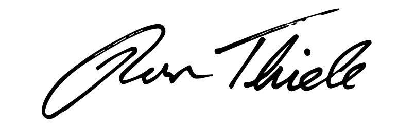 Ron Thiele Signature