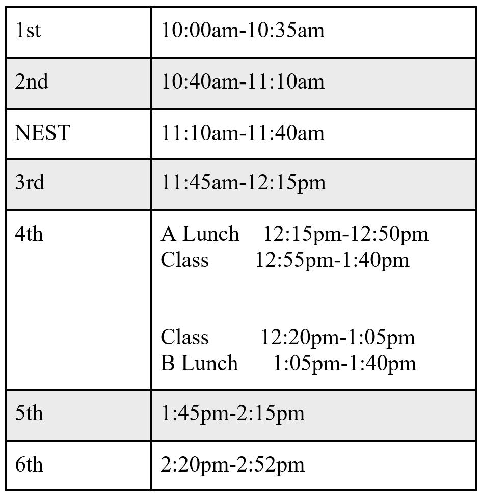 Schedule 2-14-19