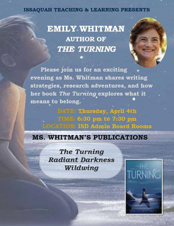 author evening at District, April 4th 2019