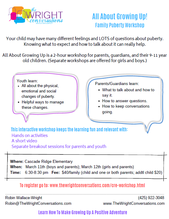 Puberty Workshop Flyer