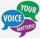 your voice matters survey speech bubbles