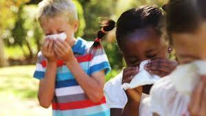 children sneezing