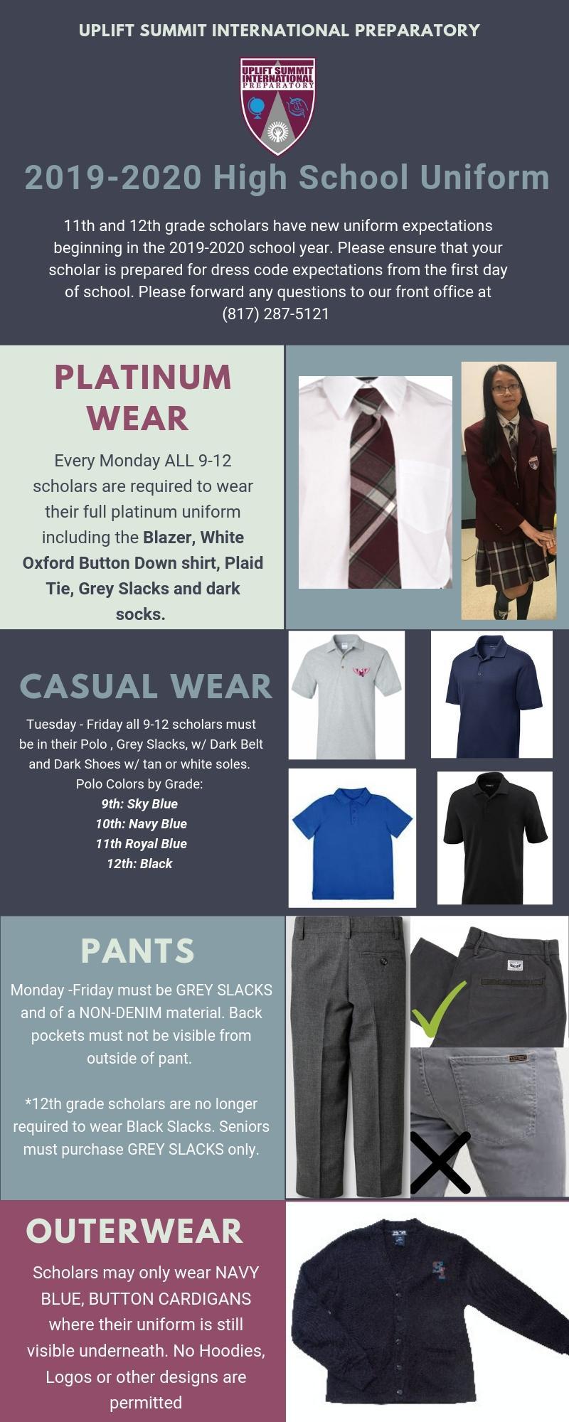 Examples of Summit School Uniforms