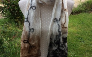 Image showing a sample result of the craft class 'Nuno Felting with Alpaca'