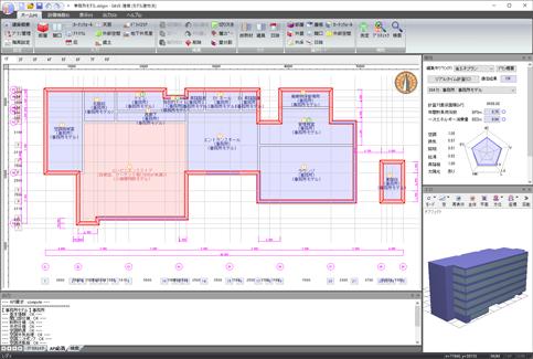 SAVE-建築 操作画面