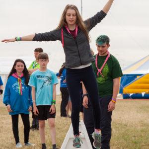 Slack-lining at Essex International Jamboree 2016