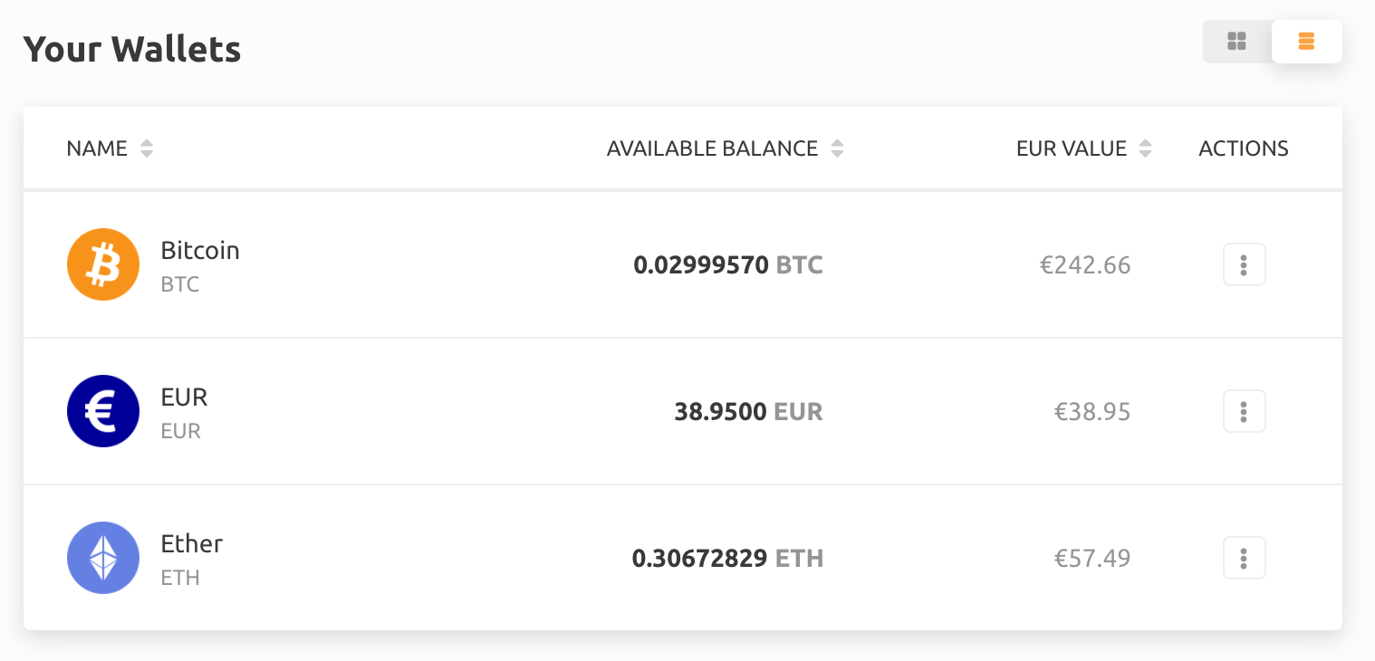 exchange account bitcoin