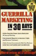 book covers guerrilla marketing in 30 days
