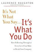 book covers its not what you say its what you do