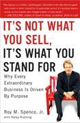 book covers its not what you sell its what you stand for