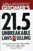 book covers jeffrey gitomers 21 point 5 unbreakable laws of selling