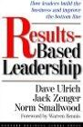 book covers results based leadership