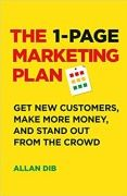 book covers the 1 page marketing plan
