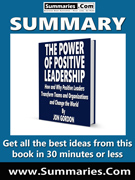summary covers the power of positive leadership