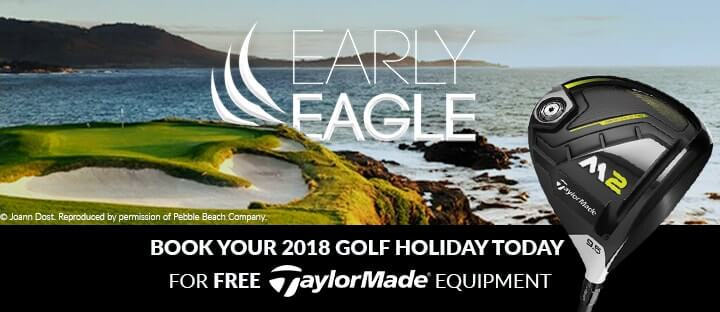 FREE TaylorMade equipment or cash discount for bookings in September & October