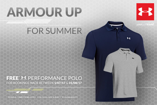 FREE Under Armour Shirt with Your Golf Travel