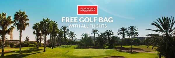 Free Golf Club Carriage with Air Arabia