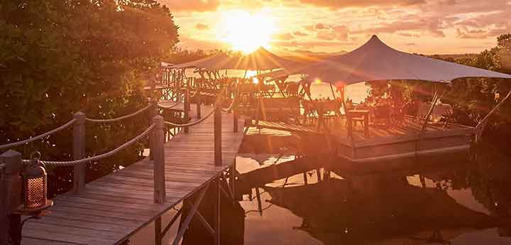 Le Barachois floating restaurant