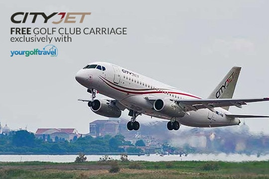 Free Golf Club Carriage with CityJet