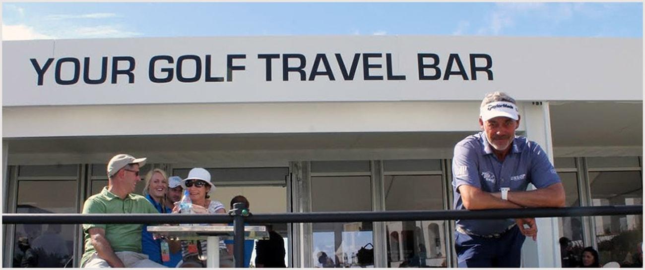 Darren Clarke at the Your Golf Travel Bar