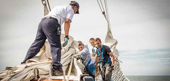 Crew onboard the Santa Maria Manuela