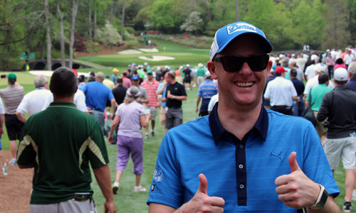 Mark Crossfield at The Masters