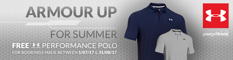 FREE Under Armour Polo Shirt for bookings in July & August 2017