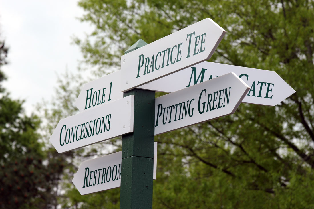 Augusta National Signpost