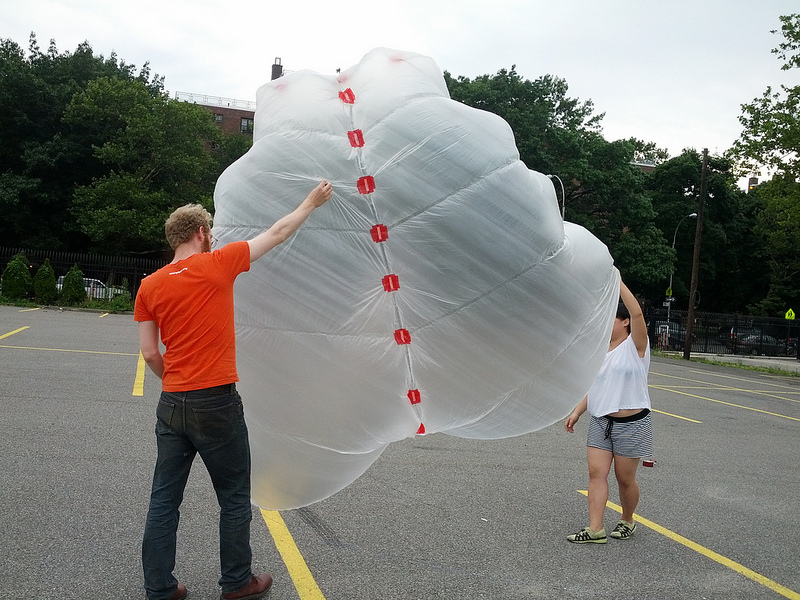 public lab tyvekbamboo kite workshop at pfizer building