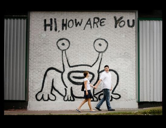 Public lab places for Daniel johnston austin mural