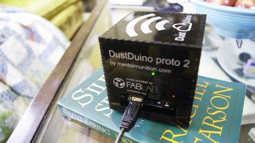 Dustduino proto 2 desk