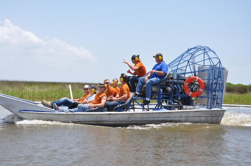 Adam_Griffith_July_22_2010__LA_Bucket_Brigade_on_airboat.jpg