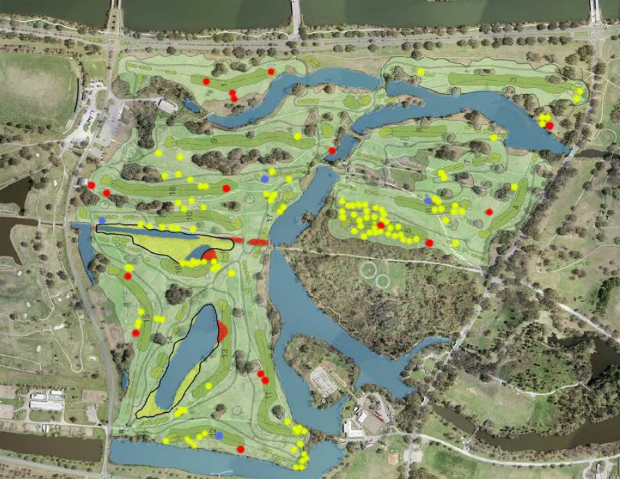 Public Lab Map of Trees to be cut for a golf course in City Park