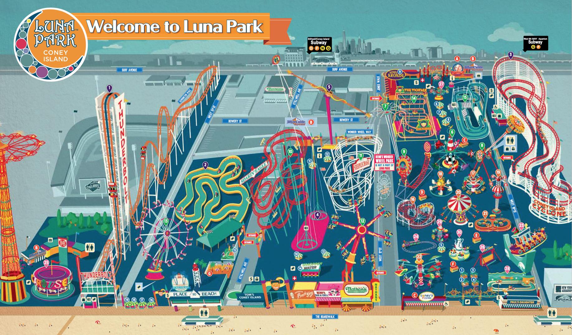 Luna Park Map 🎈 Public Lab: MapKnitter map of LunaPark Luna Park Map
