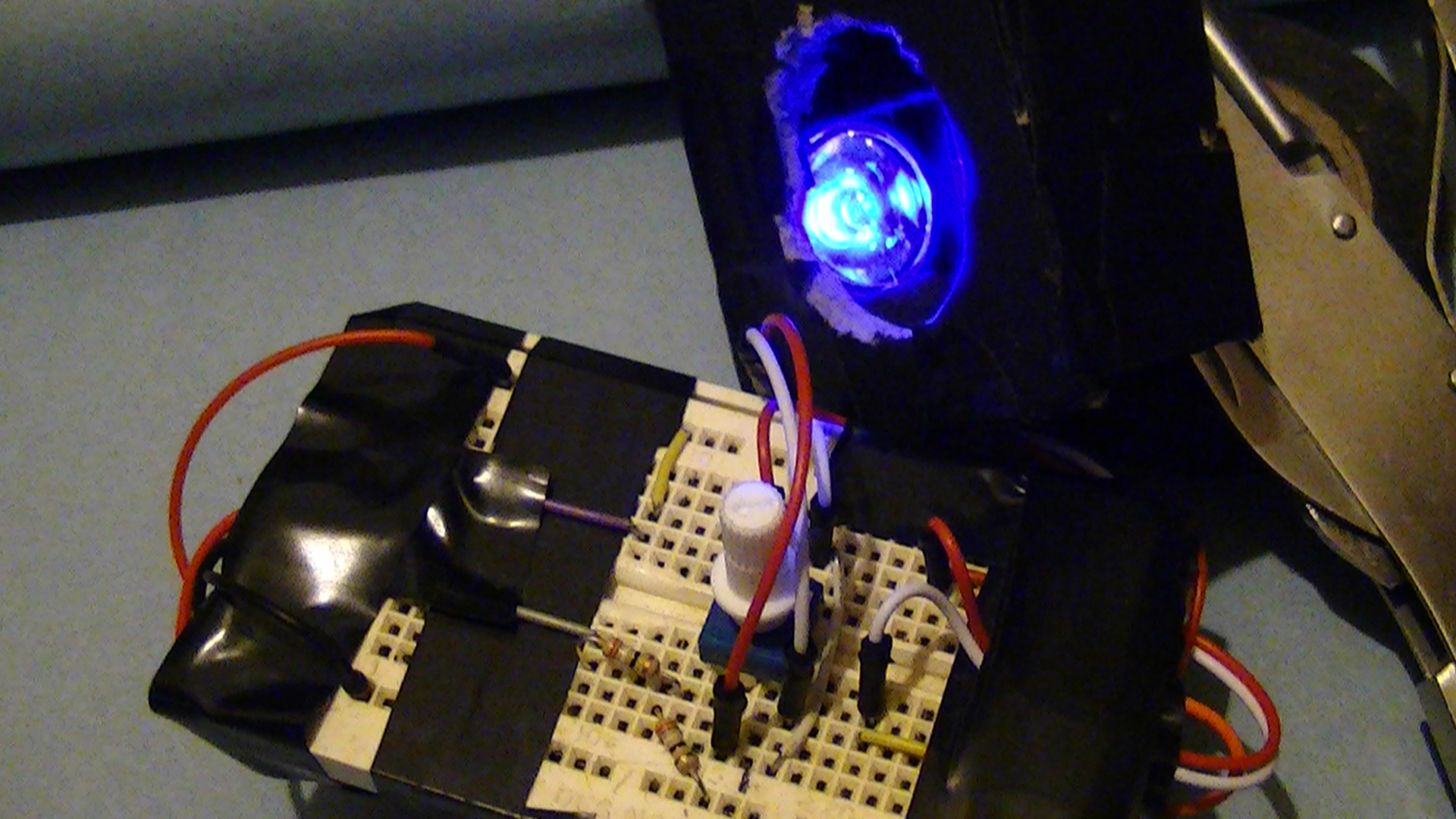 Public Lab Prolight 1 Watt Uv Led Almost Ready For Testing Driver Using A Joule Thief Circuit Homemade