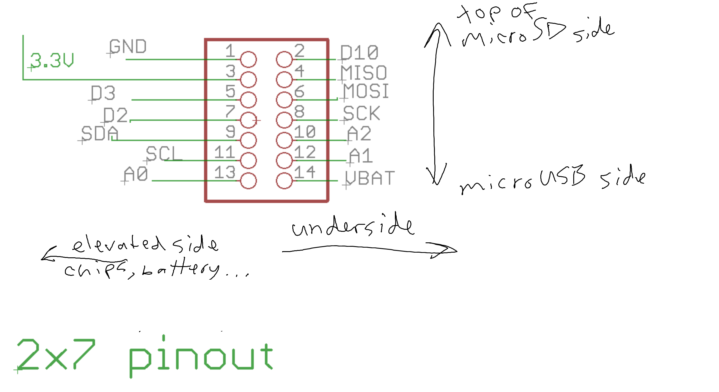 Public Lab Blink A Led Write Sketch And Build Breadboard Circuit Diagram Using Pinout