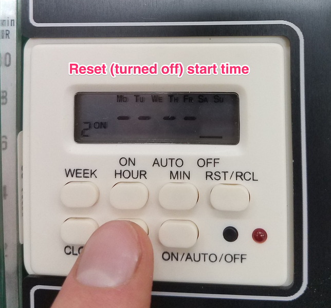 setting start time off