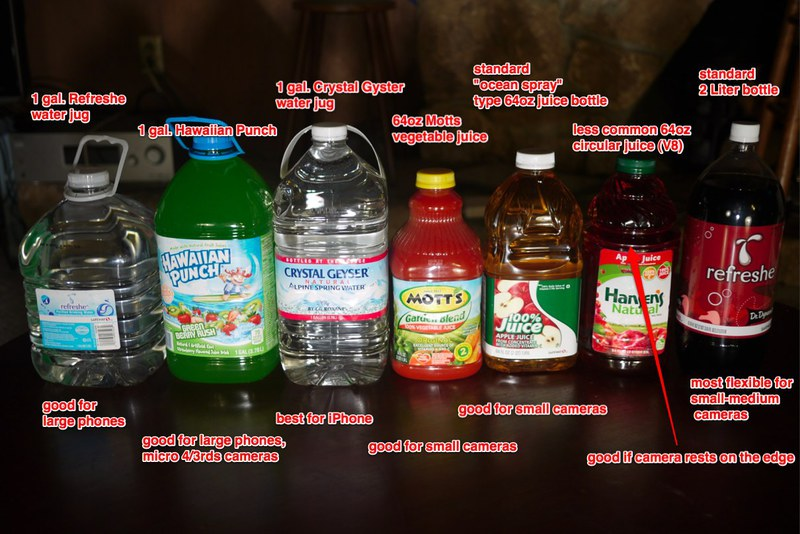 several common bottle types found at a Safeway