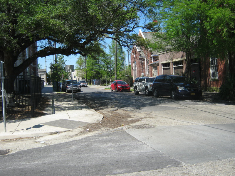 Looking back towards the site and towards St. Claude