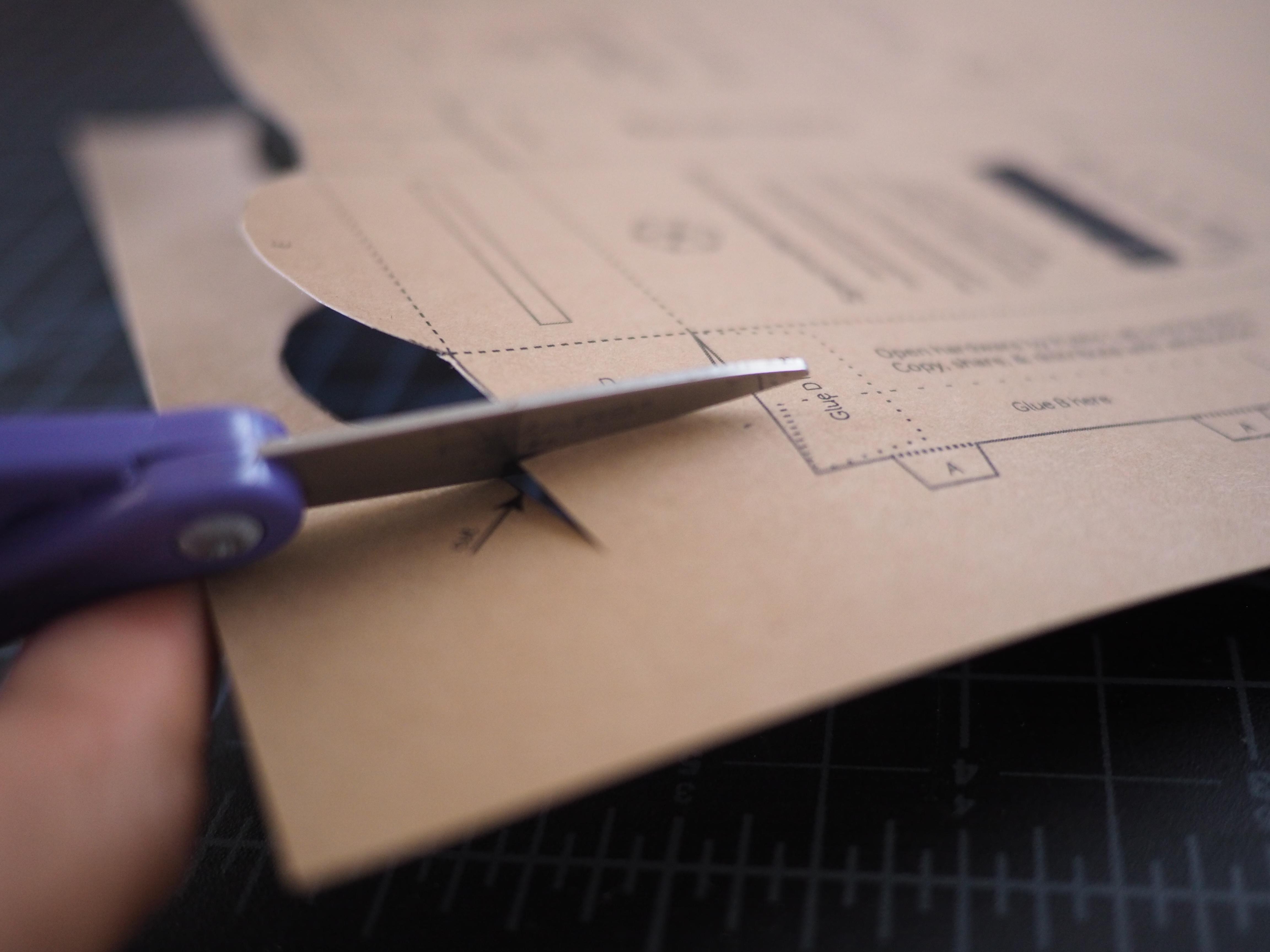 Public Lab Scissors Only Build Of Wider Papercraft Spectrometer