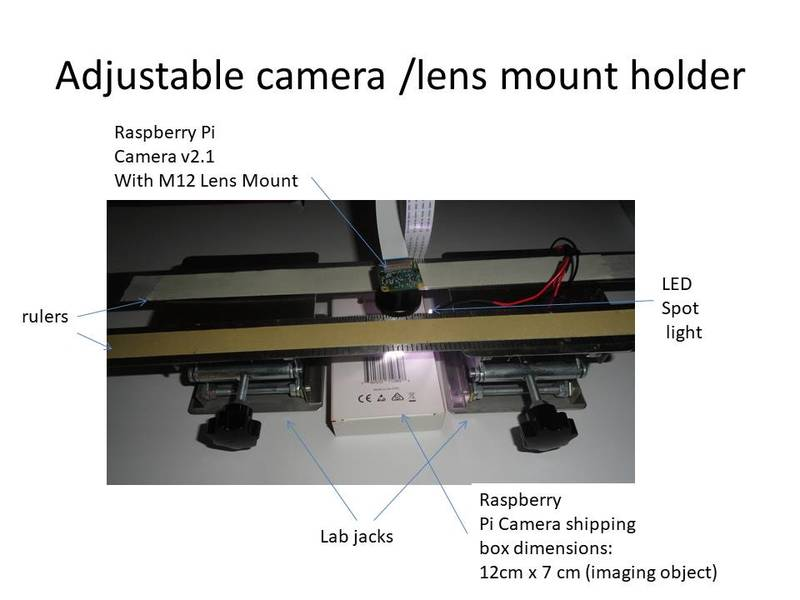 Adjustable camera/lens mount holder