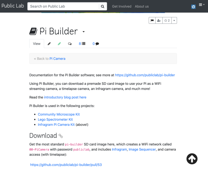 🎈 Public Lab: How can I download pi-builder SD card image