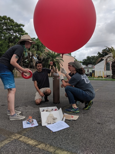Educators mapping in the Bywater in New Orleans, LA