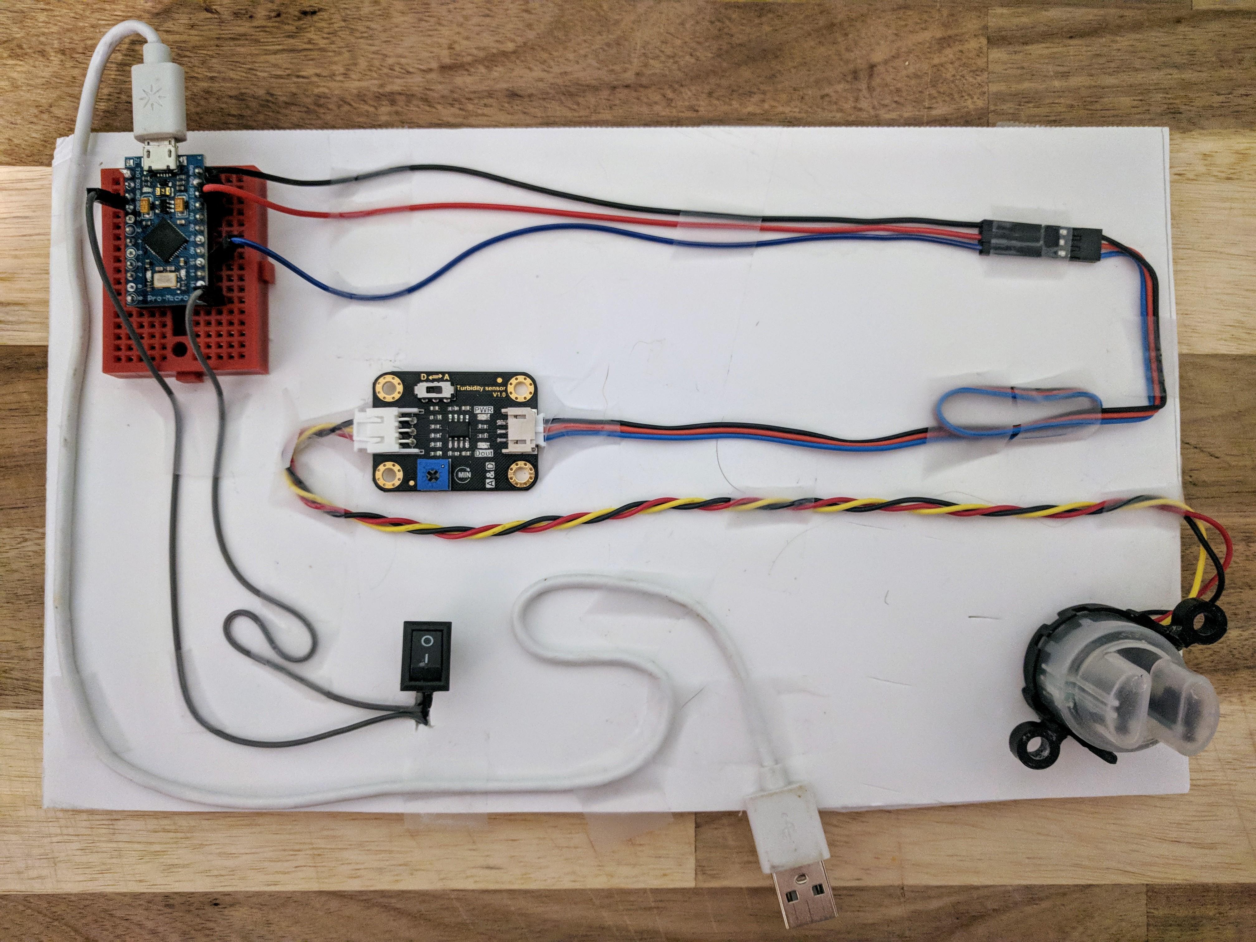 Simple turbidity sensor