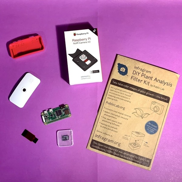 Materials for the Raspberry Pi Infragram Camera